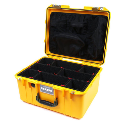 Pelican 1557 Air Case, Yellow with OD Green Handle & Latches - Pelican Color Case