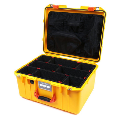 Pelican 1557 Air Case, Yellow with Orange Handle & Latches - Pelican Color Case