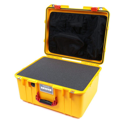 Pelican 1557 Air Colors Series, Yellow Air Case with Red Handle & Latches, Customizable Accessory Bundles - Pelican Color Case
