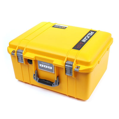 Pelican 1557 Air Colors Series, Yellow Air Case with Silver Gray Handle & Latches, Customizable Accessory Bundles - Pelican Color Case