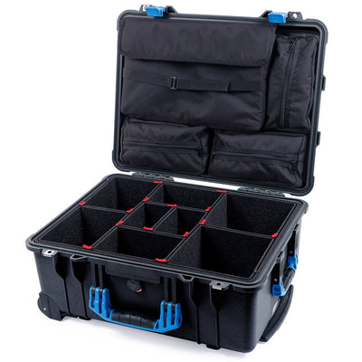 Pelican 1560 Case, Black with Blue Handles & Latches - Pelican Color Case