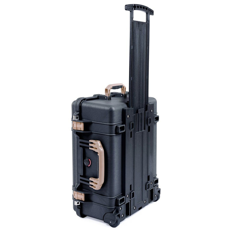 Pelican 1560 Case, Black with Desert Tan Handles & Latches - Pelican Color Case