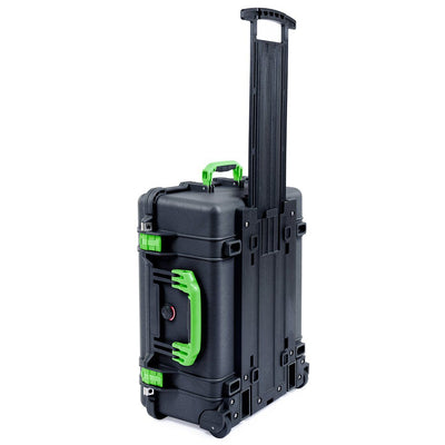 Pelican 1560 Case, Black with Lime Green Handles & Latches - Pelican Color Case