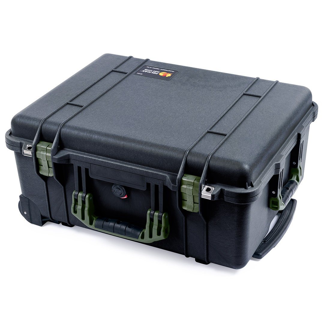 Pelican 1560 Case, Black with OD Green Handles & Latches - Pelican Color Case