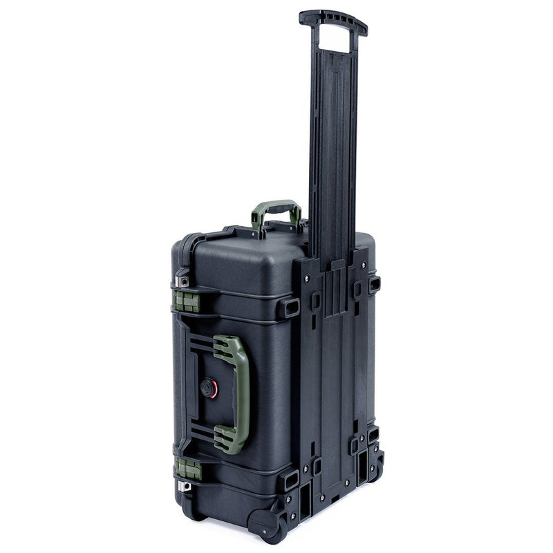 Pelican 1560 Case, Black with OD Green Handles & Latches