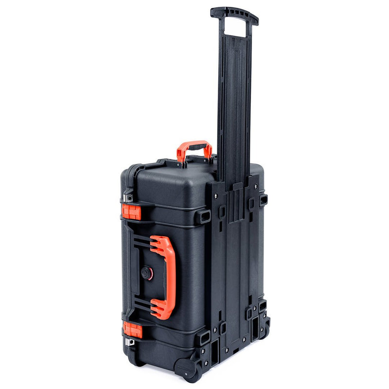 Pelican 1560 Case, Black with Orange Handles & Latches - Pelican Color Case