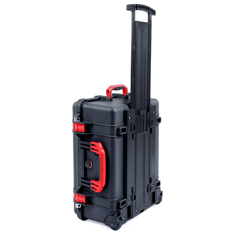 Pelican 1560 Case, Black with Red Handles & Latches - Pelican Color Case
