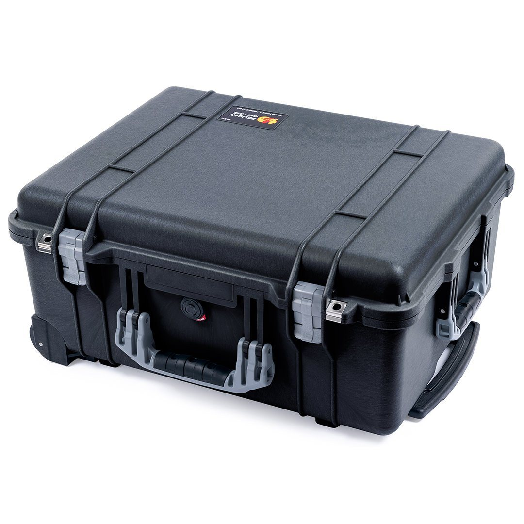 Pelican 1560 Case, Black with Silver Handles & Latches - Pelican Color Case