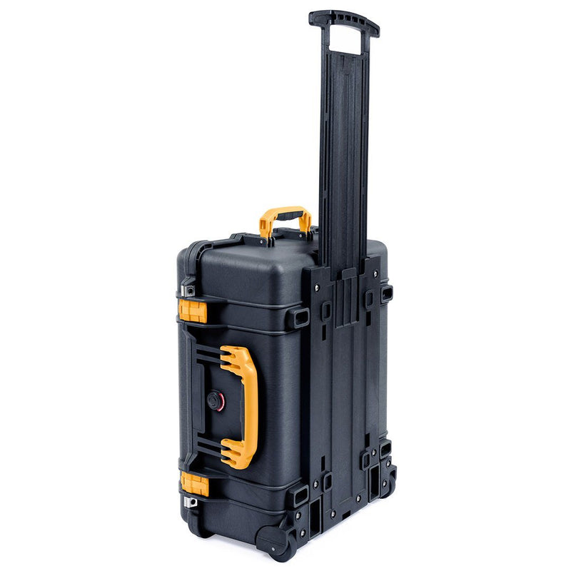 Pelican 1560 Case, Black with Yellow Handles & Latches