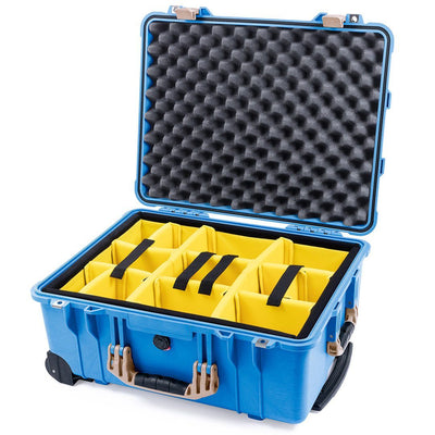 Pelican 1560 Case, Blue with Desert Tan Handles & Latches