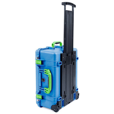 Pelican 1560 Case, Blue with Lime Green Handles & Latches