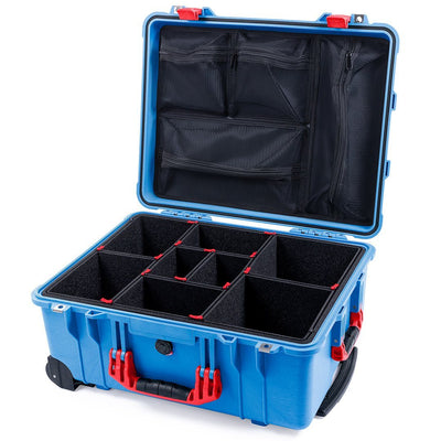Pelican 1560 Case, Blue with Red Handles & Latches