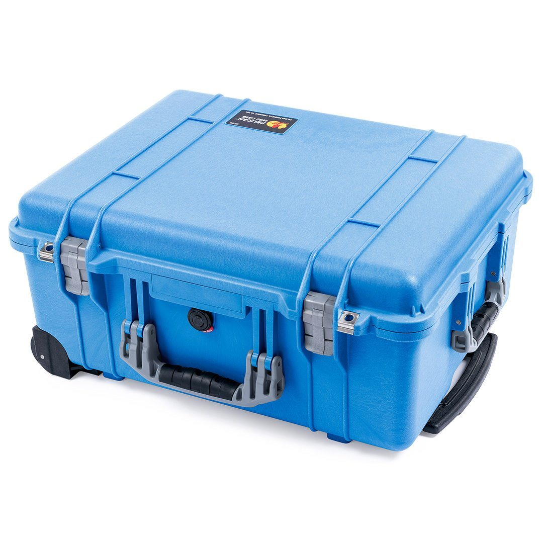Pelican 1560 Case, Blue with Silver Handles & Latches