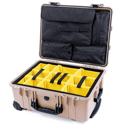 Pelican 1560 Case, Desert Tan with Black Handles & Latches - Pelican Color Case