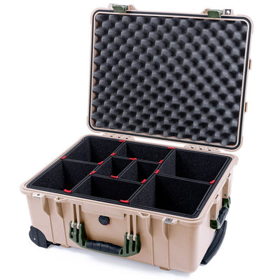 Pelican 1560 Case, Desert Tan with OD Green Handles & Latches - Pelican Color Case