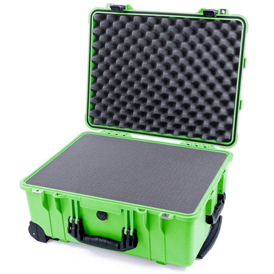 Pelican 1560 Case, Lime Green with Black Handles & Latches - Pelican Color Case