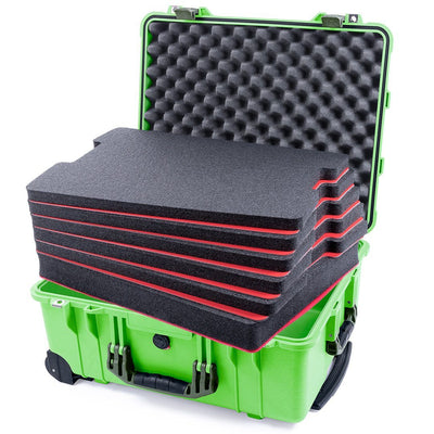 Pelican 1560 Case, Lime Green with OD Green Handles & Latches - Pelican Color Case
