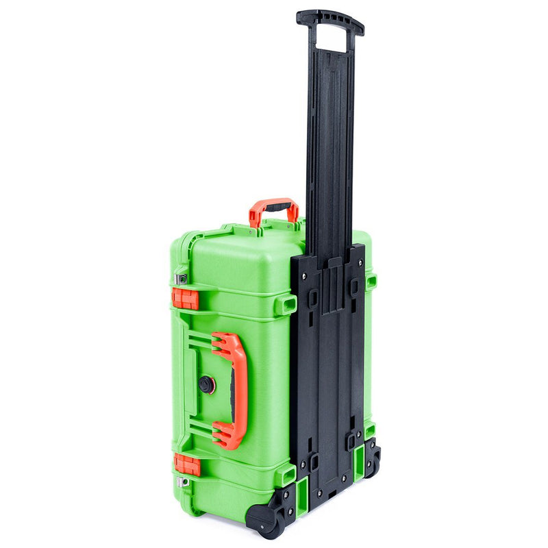 Pelican 1560 Case, Lime Green with Orange Handles & Latches - Pelican Color Case