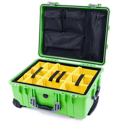 Pelican 1560 Case, Lime Green with Silver Handles & Latches - Pelican Color Case