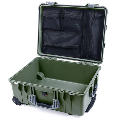 Pelican 1560 Case, OD Green with Silver Handles & Latches