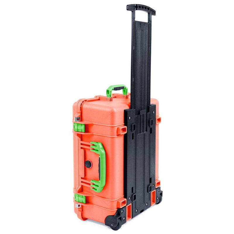 Pelican 1560 Case, Orange with Lime Green Handles & Latches