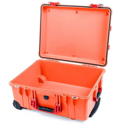 Pelican 1560 Case, Orange with Red Handles & Latches - Pelican Color Case