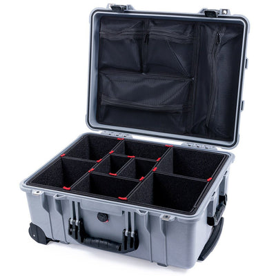 Pelican 1560 Case, Silver with Black Handles & Latches