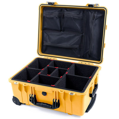 Pelican 1560 Case, Yellow with Black Handles & Latches - Pelican Color Case