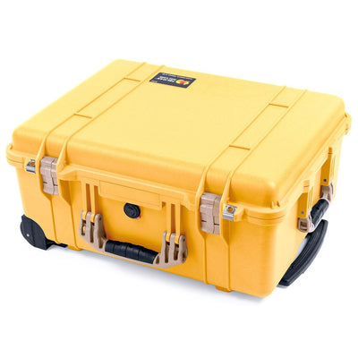 Pelican 1560 Case, Yellow with Desert Tan Handles & Latches - Pelican Color Case