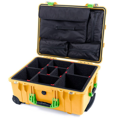 Pelican 1560 Case, Yellow with Lime Green Handles & Latches - Pelican Color Case