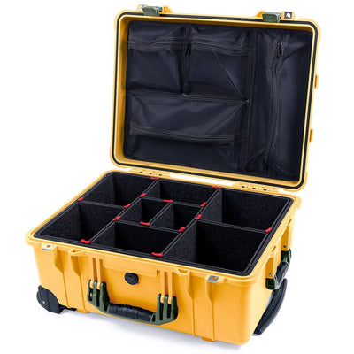 Pelican 1560 Case, Yellow with OD Green Handles & Latches - Pelican Color Case