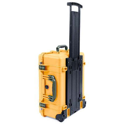 Pelican 1560 Case, Yellow with OD Green Handles & Latches