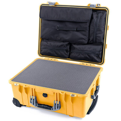 Pelican 1560 Case, Yellow with Silver Handles & Latches - Pelican Color Case