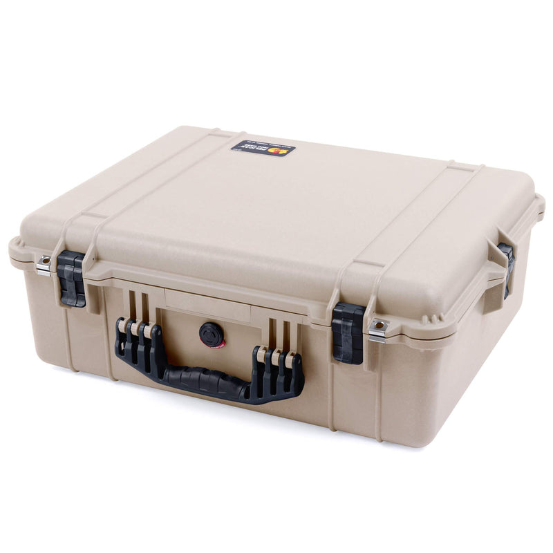 Pelican 1600 Case, Desert Tan with Black Handle & Latches