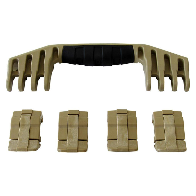 Desert Tan Replacement Handle & Latches for Pelican 1600, One Desert Tan Handle, 4 Desert Tan Latches - Pelican Color Case