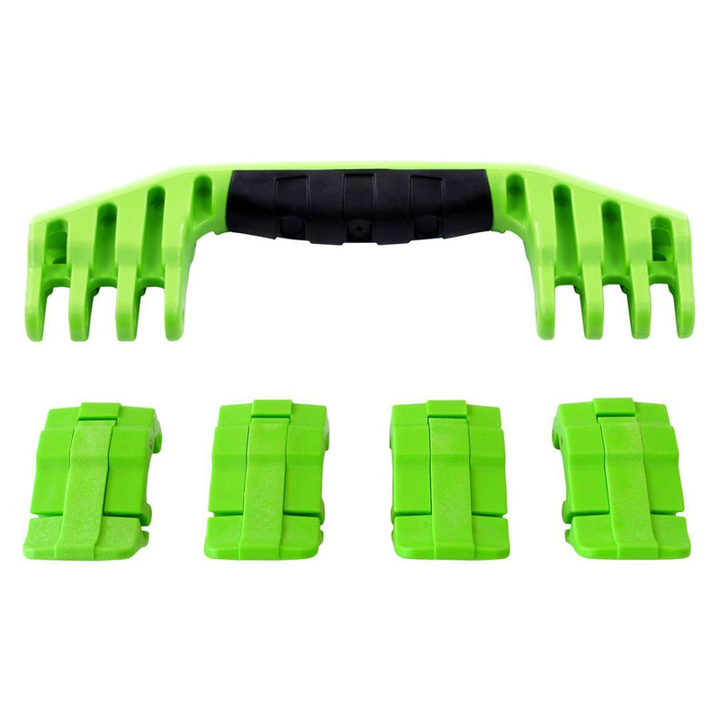 Lime Green Replacement Handle & Latches for Pelican 1600, One Lime Green Handle, 4 Lime Green Latches - Pelican Color Case