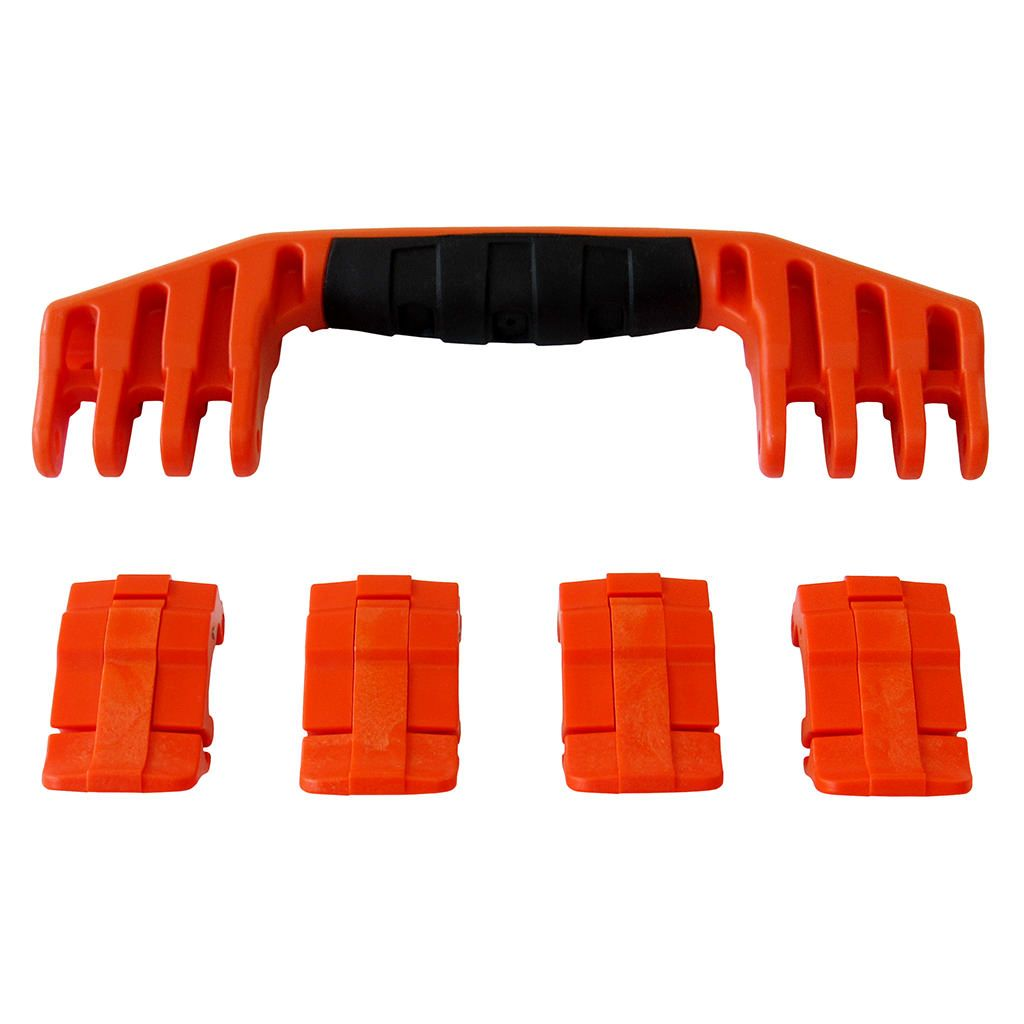 Orange Replacement Handle & Latches for Pelican 1600, One Orange Handle, 4 Orange Latches - Pelican Color Case