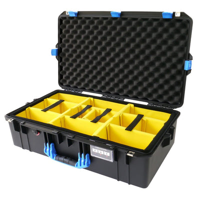 Pelican 1605 Air Case, Black with Blue Handle & Latches - Pelican Color Case