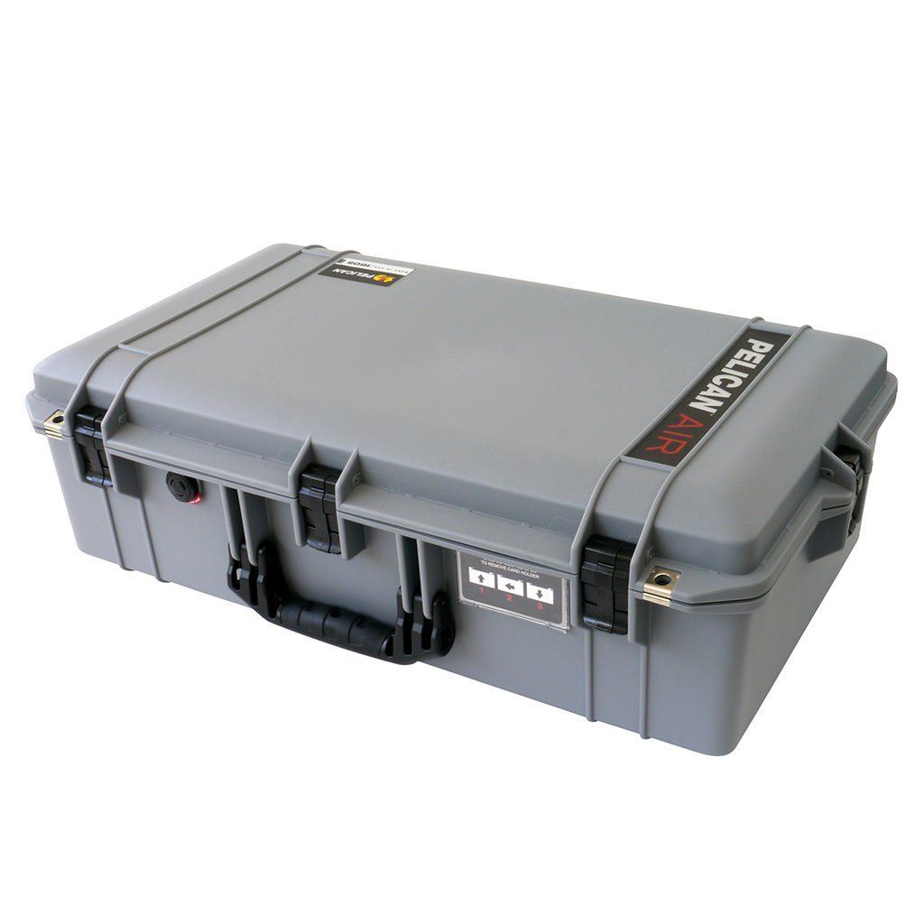 Pelican 1605 Air Case, Silver with Black Handle & Latches - Pelican Color Case