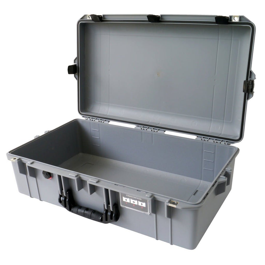 Pelican 1605 AIR COLORS Series, Silver Gray Protector Case with Black Handles & Latches, Customizable Accessory Bundles