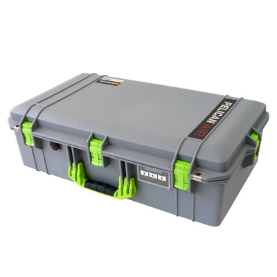 Pelican 1605 Air Case, Silver with Lime Green Handle & Latches - Pelican Color Case