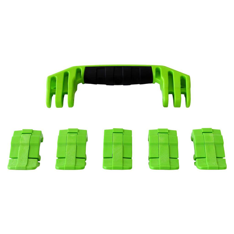 Lime Green Replacement Handles & Latches for Pelican 1605 Air, One Lime Green Handle, 5 Lime Green Latches - Pelican Color Case