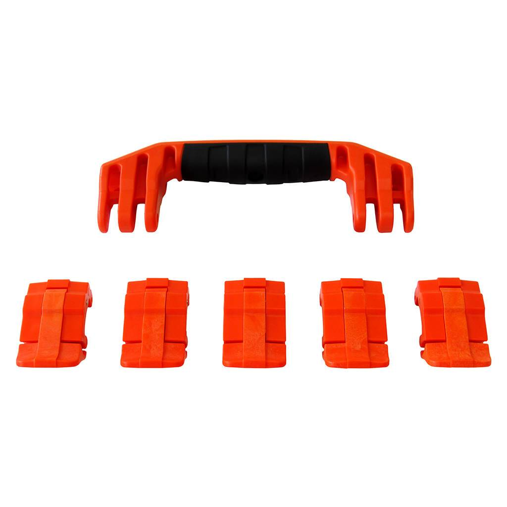 Orange Replacement Handles & Latches for Pelican 1605 Air, One Orange Handle, 5 Orange Latches - Pelican Color Case