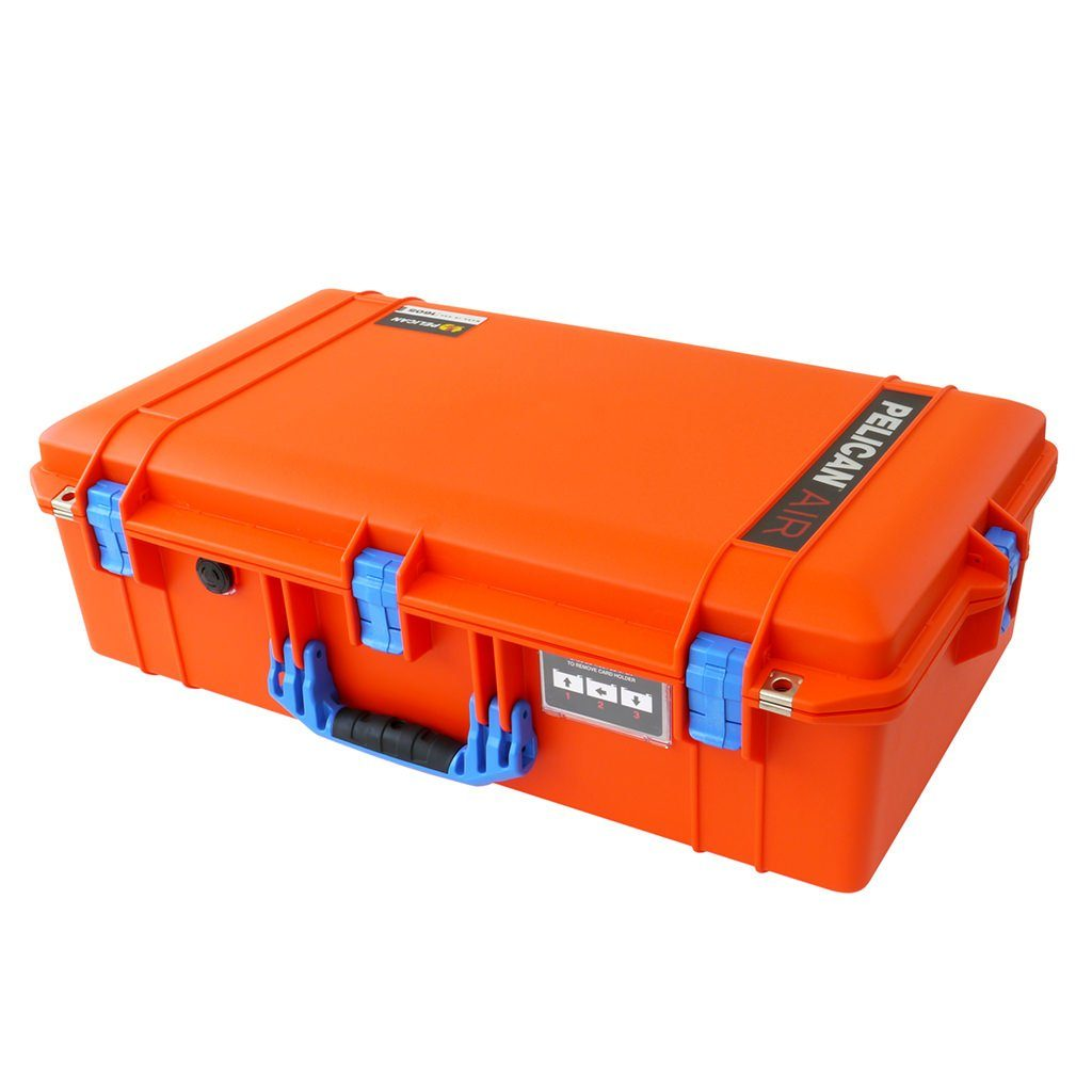 Pelican 1605 Air Case, Orange with Blue Handle & Latches - Pelican Color Case