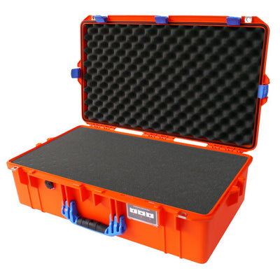Pelican 1605 Air Colors Series, Orange Air Case with Blue Handles & Latches, Customizable Accessory Bundles