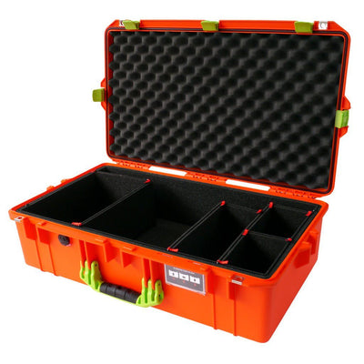 Pelican 1605 Air Case, Orange with Lime Green Handle & Latches - Pelican Color Case