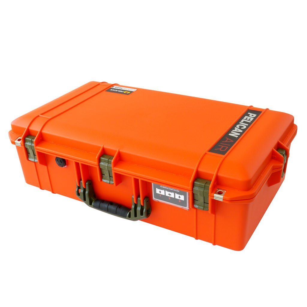 Pelican 1605 Air Case, Orange with OD Green Handle & Latches - Pelican Color Case