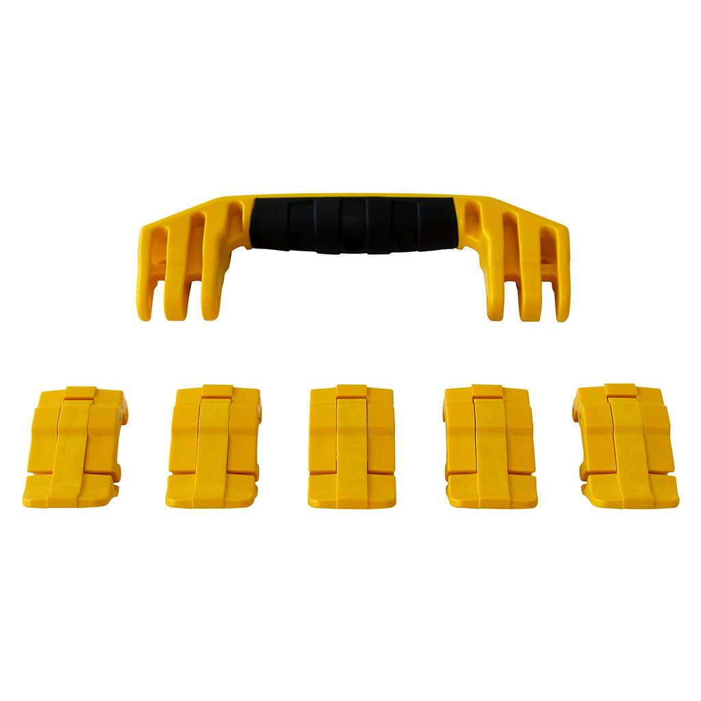Yellow Replacement Handles & Latches for Pelican 1605 Air, One Yellow Handle, 5 Yellow Latches - Pelican Color Case