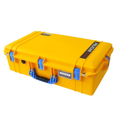 Pelican 1605 Air Colors Series, Yellow Air Case with Blue Handles & Latches, Customizable Accessory Bundles