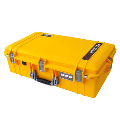 Pelican 1605 Air Colors Series, Yellow Air Case with Silver Gray Handles & Latches, Customizable Accessory Bundles